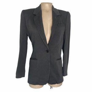 EMPORIO ARMANI Vintage Charcoal Wool One Button Closure Blazer Jacket Suit 38